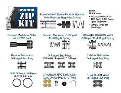 Ford 4R44E, 4R55E, 5R44E, 5R55E Sonnax Zip Kit No special tools needed