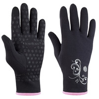 TrailHeads Power Stretch Women's Running Gloves - black / fast pink