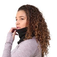 TrailHeads Double Layer Fleece Neck Warmer / Gaiter - black