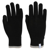 TrailHeads Light Knit Gloves | Winter Glove Liners  for Men and Women - black / heather grey