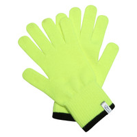 TrailHeads Light Knit Gloves | Winter Glove Liners  for Men and Women - hi vis / black