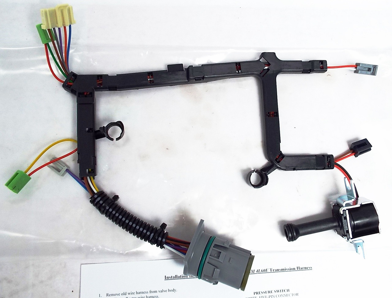 wire harness w tcc lock up solenoid, 4l60e 2003 up 4L60E Controller
