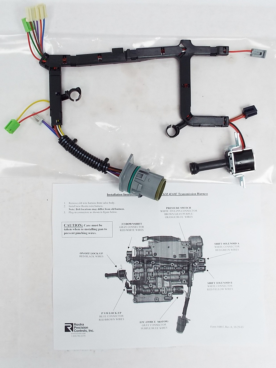 Wire Harness w/ TCC Lock-Up Solenoid, 4L60E 2003-Up on