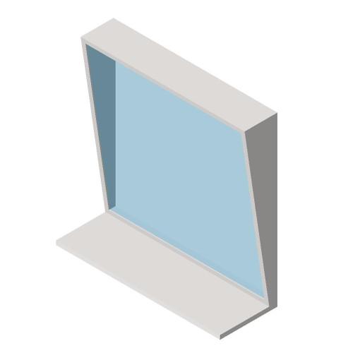 "ASI (10-0537-1836) Fixed Tilt Mirror with Shelf - 18""w x 36""h"