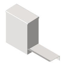 ASI (10-0852-SH) Sanitary Napkin Disposal w/Shelf - Surface Mounted