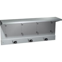 ASI (10-1308-4) Surface Mounted Shelf with Utility Hooks and Mop Strip