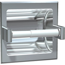 ASI (10-7402-HSD) Recessed Single Toilet Paper Holder with Hood-Satin, For Dry Wall Installation