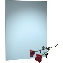 "ASI (10-8026-1830) Frameless Stainless Steel Mirror with Masonite Backing (18""w x 30""h)"