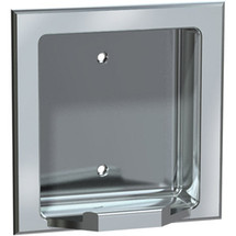 ASI (10-7404-BD) Recessed Soap Dish - Bright, For Dry Wall Installation (Requires Clamp Model #10-39, Sold Separately)