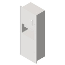 ASI (10-94696) Recessed Roll Towel Dispenser and Waste Receptacle