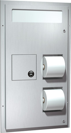 ASI (10-0481) Dual Access Seat Cover and Toilet Tissue Dispenser with Sanitary Disposal