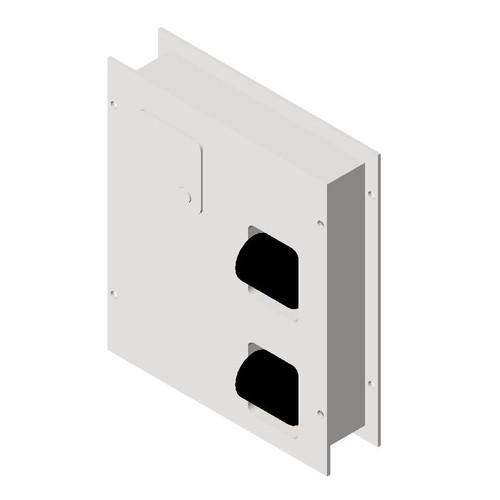 ASI (10-04813-HC) Dual Access Toilet Tissue Dispenser with Napkin Disposal