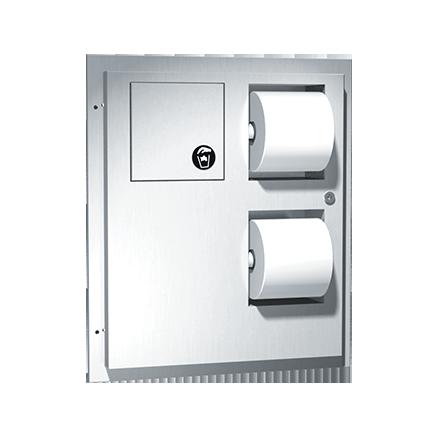 ASI (10-04823) Dual Access Toilet Tissue Dispenser with Napkin Disposal