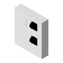 ASI (10-04833) Dual Access Toilet Tissue Dispenser with Napkin Disposal