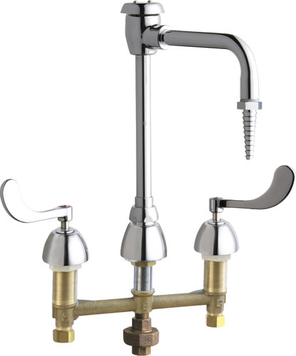 Chicago Faucets (786-TWGN2BVBE7CP) Hot and Cold Water Inlet Faucet with Third Water Inlet Connection