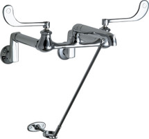 Chicago Faucets (815-CP) Hot and Cold Water Sink Faucet
