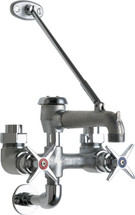 Chicago Faucets (835-RCF) Exposed Hot and Cold Water Service Sink Faucet with Supplies from Above