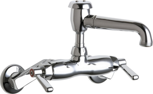 Chicago Faucets (886-CP) Hot and Cold Water Sink Faucet
