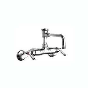 Chicago Faucets (886-RL8BVBE2-2CP) Hot and Cold Water Sink Faucet