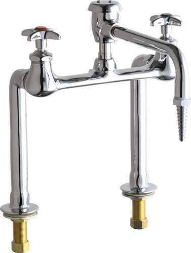 Chicago Faucets (941-VBE7CP) Hot and Cold Water Inlet Faucet with Vacuum Breaker