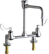 Chicago Faucets (947-317CP) Hot and Cold Water Inlet Faucet with Vacuum Breaker