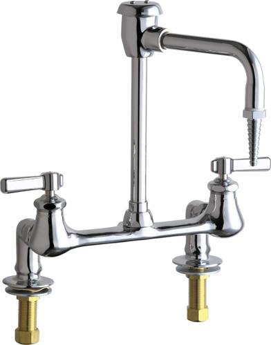 Chicago Faucets (947-369CP) Hot and Cold Water Inlet Faucet with Vacuum Breaker