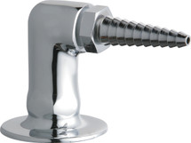 Chicago Faucets (988-WSCP) Flange with Serrated Hose Nozzle
