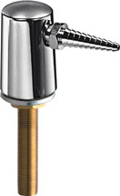 Chicago Faucets (980-WSE7TCP) Turret with Single Serrated Hose Nozzle and Inlet Supply Shank
