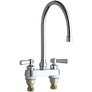 Chicago Faucets (895-GN8AE3VPAABCP) Hot and Cold Water Sink Faucet