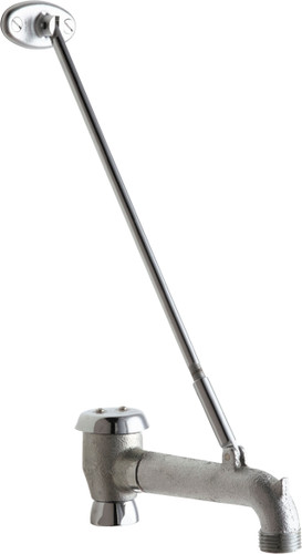 """Chicago Faucets (897-SJKRCF) 5-3/4"""" Rigid Vacuum Breaker Spout with 3/4"""" Male Hose Thread and Pail Hook"""