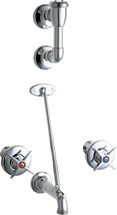Chicago Faucets (911-CP) Concealed Hot and Cold Water Sink Faucet