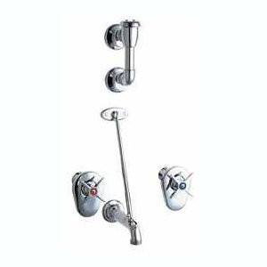 Chicago Faucets (911-ISXKCP) Concealed Hot and Cold Water Sink Faucet with Integral Service Stops