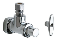 Chicago Faucets (995-ABCP) Angle Stop Fitting with Loose Key