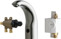 Chicago Faucets (116.972.AB.1) HyTronic Contemporary Sink Faucet with Dual Beam Infrared Sensor