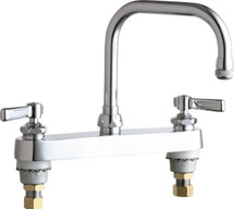 Chicago Faucets (527-ABCP) Hot and Cold Water Sink Faucet