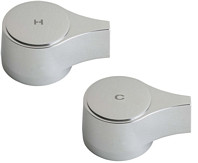 """Chicago Faucets (636-PRJKCP) 2-1/8"""" Single Wing Canopy Handle, Eight-Point Tapered Broach"""