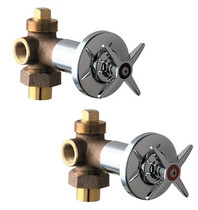 Chicago Faucets (769-PRABCP) Hot and Cold Water Concealed Angle Valve