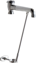 """Chicago Faucets (815-SVBJKCP) 7-1/2"""" Rigid Spout with Pail Hook and Pipe Support"""
