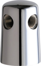 Chicago Faucets (981-CP) Turret with Two Side Outlets @ 180 Deg
