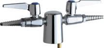 Chicago Faucets (981-VR909AGVCP) Turret with Two Ball Valves @ 180ÌÎÌ_Ì´åÇÌÎå«ÌÎå