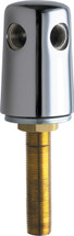 Chicago Faucets (982-WSCP) Turret with Two Side Outlets @ 90 Deg and Inlet Supply Shank