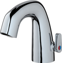 Chicago Faucets (EQ-A21A-KJKABCP) EQ Curved Electronic Spout Assembly with User Temperature Adjustment Handle
