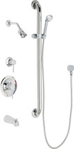 Chicago Faucets (SH-PB1-17-144) Pressure Balancing Tub and Shower Valve with Shower Head