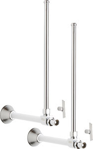 Chicago Faucets (STC-52-11-PR-AB) Angle Stop Compression Valve with Supply Tube and Loose Key Handle - One Pair