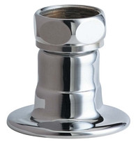 """Chicago Faucets (WJKABCP) Straight 2"""" Inlet Supply Arm with Integral Flange with 1/2"""" NPT Female Thread Inlet"""