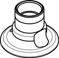 Chicago Faucets (900-LES)  Single Service Deck Flange