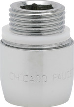 Chicago Faucets (E3-2JKABCP)  2.2 GPM (8.3 L/min) Pressure Compensating Softflo Aerator with Adapter