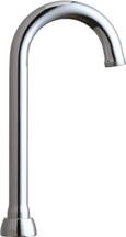 """Chicago Faucets (GN1AJKABCP)  3-1/2"""" Rigid / Swing Gooseneck Spout"""