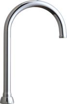 """Chicago Faucets (GN2AJKABCP) 5-1/4"""" Rigid / Swing Gooseneck Spout"""