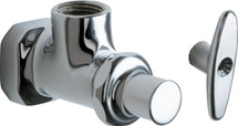 Chicago Faucets (442-LKABCP)  Angle Stop Fitting with Loose Key